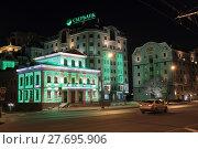 Купить «Москва, дом 42 в вечерней подсветке на Большой Якиманке», эксклюзивное фото № 27695906, снято 7 января 2017 г. (c) ДеН / Фотобанк Лори