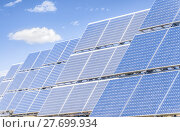 Купить «Solar panels to produce green energy.», фото № 27699934, снято 10 мая 2020 г. (c) PantherMedia / Фотобанк Лори