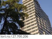 Купить «Modern Office Building Beside Park», фото № 27700206, снято 17 июня 2019 г. (c) PantherMedia / Фотобанк Лори