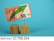 Купить «Euro growth illustrated over blue», фото № 27700254, снято 20 июля 2019 г. (c) PantherMedia / Фотобанк Лори
