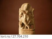 Купить «Marble statue of God Krishna with brown background», фото № 27704210, снято 19 марта 2019 г. (c) PantherMedia / Фотобанк Лори