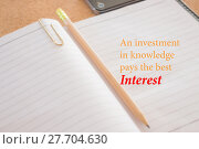 Купить «An investment in knowledge pays the best interest», фото № 27704630, снято 18 июля 2019 г. (c) PantherMedia / Фотобанк Лори