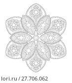 Купить «Mandala illustration for adult coloring», иллюстрация № 27706062 (c) PantherMedia / Фотобанк Лори