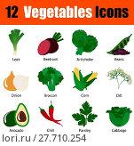Купить «Flat design vegetables icon set», иллюстрация № 27710254 (c) PantherMedia / Фотобанк Лори