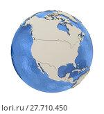 Купить «North America on model of planet Earth», фото № 27710450, снято 20 сентября 2019 г. (c) PantherMedia / Фотобанк Лори