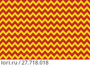 Купить «zigzag pattern red yellow», фото № 27718018, снято 19 октября 2018 г. (c) PantherMedia / Фотобанк Лори