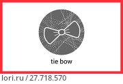 Купить «Bow tie outline vector contour», фото № 27718570, снято 26 апреля 2018 г. (c) PantherMedia / Фотобанк Лори