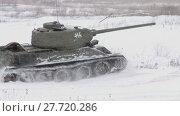 Купить «Legendary Russian Tank T34», видеоролик № 27720286, снято 15 мая 2012 г. (c) Алексей Кузнецов / Фотобанк Лори