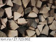 Купить «pile with firewood in the forest», фото № 27723002, снято 16 октября 2018 г. (c) PantherMedia / Фотобанк Лори