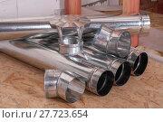 air ducts made of metal. Стоковое фото, фотограф Myroslav Kuchynskyi / Фотобанк Лори