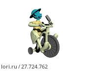 Купить «grandpa on tricycle free», фото № 27724762, снято 17 августа 2018 г. (c) PantherMedia / Фотобанк Лори