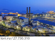 Купить «power station night», фото № 27730310, снято 22 мая 2018 г. (c) PantherMedia / Фотобанк Лори