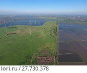 Купить «Masts longwave antennas communication among the rice fields flooded», фото № 27730378, снято 22 января 2019 г. (c) PantherMedia / Фотобанк Лори