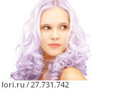 Купить «teen girl with trendy lilac dyed hair», фото № 27731742, снято 2 октября 2011 г. (c) Syda Productions / Фотобанк Лори