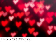 Купить «St Valentines Day red heart bokeh background with defocused light hearts, St Valentine's day symbol», фото № 27735278, снято 13 января 2017 г. (c) Зезелина Марина / Фотобанк Лори