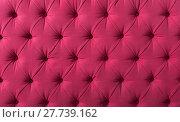Купить «upholstered pink textile», фото № 27739162, снято 22 мая 2018 г. (c) Яков Филимонов / Фотобанк Лори