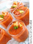 Купить «Fresh gazpacho soup.», фото № 27741454, снято 14 декабря 2018 г. (c) PantherMedia / Фотобанк Лори
