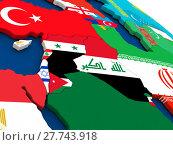 Купить «Israel, Lebanon, Jordan, Syria and Iraq region on globe with flags», фото № 27743918, снято 14 декабря 2018 г. (c) PantherMedia / Фотобанк Лори