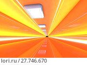 Купить «A 3D rendered architecture interior of a tunnel.», фото № 27746670, снято 20 августа 2019 г. (c) PantherMedia / Фотобанк Лори