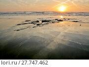 Купить «Beach reflections», фото № 27747462, снято 16 сентября 2019 г. (c) PantherMedia / Фотобанк Лори