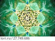 Купить «Abstract pixelated 6 sided star», фото № 27749686, снято 17 июля 2018 г. (c) easy Fotostock / Фотобанк Лори