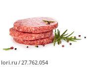 Купить «Raw hamburgers and spices.», фото № 27762054, снято 14 декабря 2018 г. (c) PantherMedia / Фотобанк Лори