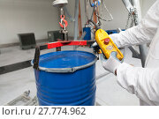 Купить «Hazardous waste packaging», фото № 27774962, снято 26 марта 2019 г. (c) PantherMedia / Фотобанк Лори