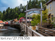 Купить «Historic Creek Street in Ketchikan», фото № 27778550, снято 27 июня 2019 г. (c) PantherMedia / Фотобанк Лори