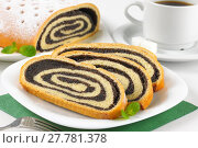 Купить «sliced poppy seed roll», фото № 27781378, снято 19 августа 2018 г. (c) PantherMedia / Фотобанк Лори
