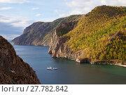 Купить «Shore of Olkhon Island, Lake Baikal, Lake Baikal UNESCO World Heritage Site, Siberia, Russia. September 2013. Photographed for The Freshwater Project», фото № 27782842, снято 20 апреля 2018 г. (c) Nature Picture Library / Фотобанк Лори