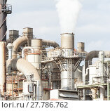 Купить «industrial plant of a furniture factory with smoking smokestacks», фото № 27786762, снято 22 сентября 2018 г. (c) PantherMedia / Фотобанк Лори