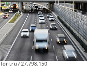 Купить «Six lane controlled-access highway in Poland», фото № 27798150, снято 17 июня 2019 г. (c) PantherMedia / Фотобанк Лори