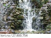 Купить «small waterfall,cascade flowing over mossy felsesteine», фото № 27800754, снято 18 января 2019 г. (c) PantherMedia / Фотобанк Лори