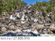Купить «Rainbow at Uchar waterfall, Altay (Altai), Russia», фото № 27800910, снято 25 февраля 2018 г. (c) PantherMedia / Фотобанк Лори