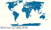 World Political Map Outline. Стоковая иллюстрация, иллюстратор Peter Hermes Furian / PantherMedia / Фотобанк Лори