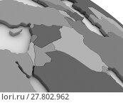 Купить «Israel, Lebanon, Jordan, Syria and Iraq region on grey 3D map», фото № 27802962, снято 14 декабря 2018 г. (c) PantherMedia / Фотобанк Лори