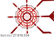 Купить «abstract createive kaleidoscope red color», фото № 27818534, снято 19 марта 2018 г. (c) PantherMedia / Фотобанк Лори