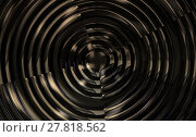 Купить «metallic spiral background glossy illustration 3d render», фото № 27818562, снято 14 июля 2020 г. (c) PantherMedia / Фотобанк Лори