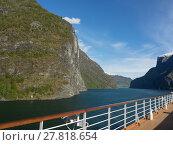 Купить «the aurlandsfjörd in norway», фото № 27818654, снято 24 июня 2018 г. (c) PantherMedia / Фотобанк Лори