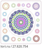Купить «set of mandala illustration», иллюстрация № 27820754 (c) PantherMedia / Фотобанк Лори
