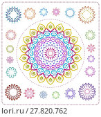 Купить «set of mandala illustration», иллюстрация № 27820762 (c) PantherMedia / Фотобанк Лори