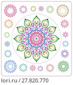 Купить «set of mandala illustration», иллюстрация № 27820770 (c) PantherMedia / Фотобанк Лори