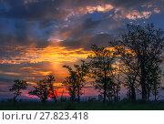 Купить «Fantastic sunset with halo», фото № 27823418, снято 19 марта 2019 г. (c) PantherMedia / Фотобанк Лори