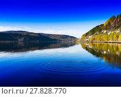 Купить «Horizontal vivid Norway day river water circles drops background», фото № 27828770, снято 20 апреля 2018 г. (c) PantherMedia / Фотобанк Лори