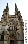 Купить «Bordeaux city, gothic cathedral in France», фото № 27829954, снято 25 мая 2019 г. (c) PantherMedia / Фотобанк Лори