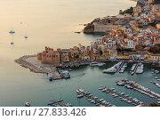 Купить «Castellammare del Golfo sea bay, Sicily, Italy», фото № 27833426, снято 17 июня 2017 г. (c) Юрий Брыкайло / Фотобанк Лори