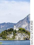Купить «Johannesberg-chapel in Upper Austria in Traunkirchen», фото № 27839950, снято 19 сентября 2018 г. (c) PantherMedia / Фотобанк Лори