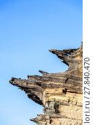 Купить «volcanic stone formation with blue sky at el Golfo», фото № 27840470, снято 22 апреля 2019 г. (c) PantherMedia / Фотобанк Лори