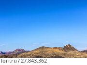 Купить «volcano Montana Colorada in Lanzarote, Tinajo», фото № 27843362, снято 16 декабря 2018 г. (c) PantherMedia / Фотобанк Лори