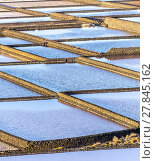 Купить «Salt refinery, Saline from Janubio, Lanzarote», фото № 27845162, снято 15 декабря 2018 г. (c) PantherMedia / Фотобанк Лори